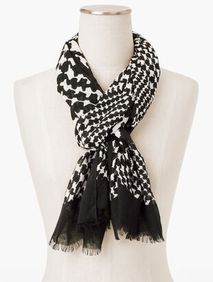 Jazzy  Houndstooth Scarf