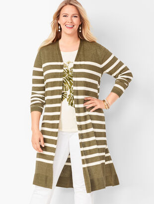 Lightweight Duster  - Stripe