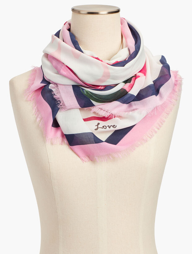 Roses & Hearts Scarf