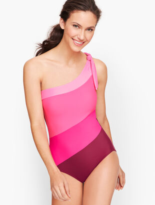 Miraclesuit® Colorblock One Shoulder One Piece