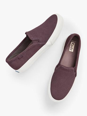 Keds® Double Decker Slip-On Sneakers - Suede