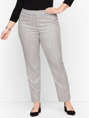 Plus Size Exclusive - Westport Tweed Slim Ankle Pants