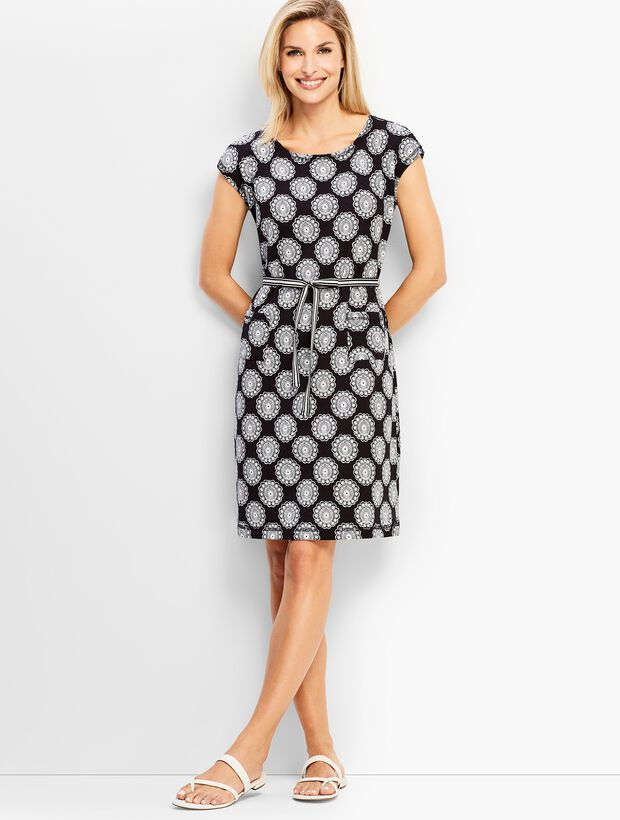 Flower Tile French Terry Dress