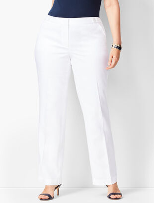 Talbots Windsor Linen Wide-Leg Pants - Curvy Fit - Lined