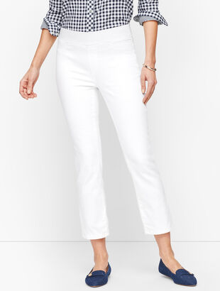 Sculpt Crop Flare Jeans - White