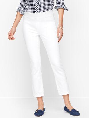 Sculpt Crop Flare Jeans - White