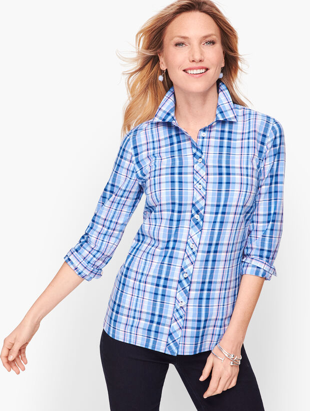 Classic Cotton Shirt - Resort Plaid