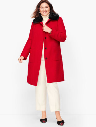 Bouclé Wool Coat