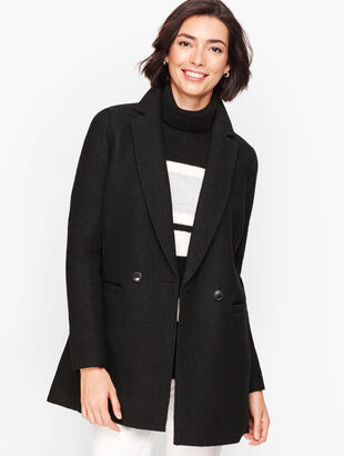 Long Boiled Wool Jacket