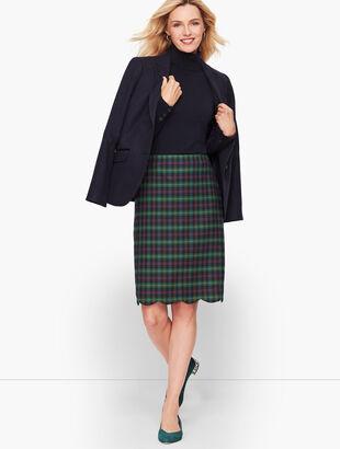 Talbots Tartan A-Line Skirt
