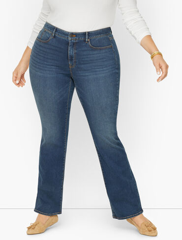 Plus Size Exclusive Barely Boot Jeans - Champlain Wash