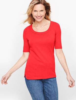 Pima Scoop Neck Tee