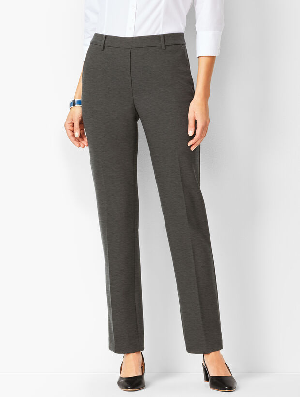 Bi-Stretch Pull-On Straight-Leg Pants