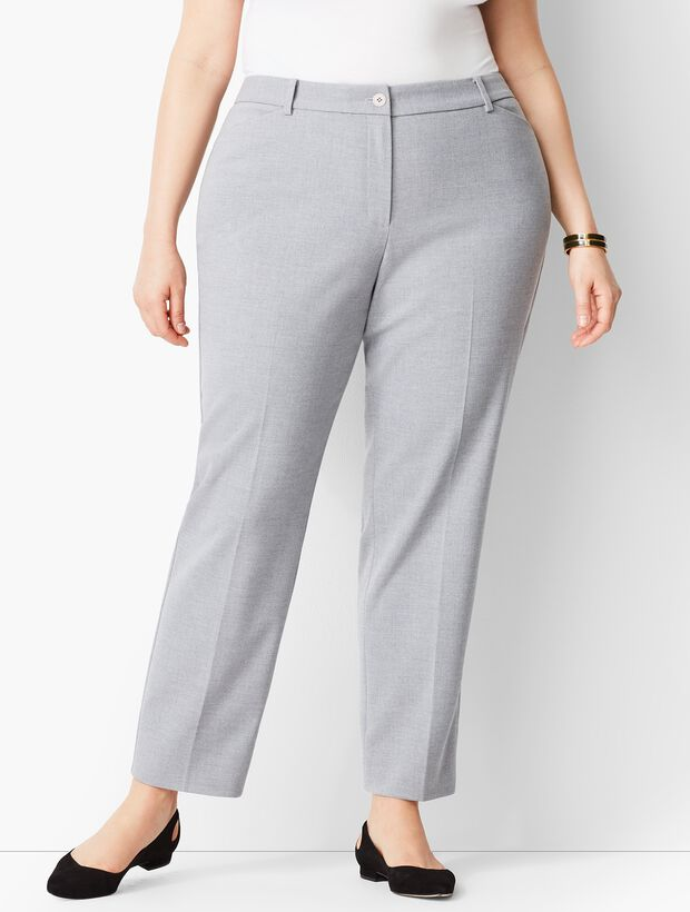 4c8922e505 Plus Size High-Waist Tailored Ankle Pant - Grey Curvy Fit