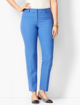 Talbots Hampshire Ankle Pants - Curvy Fit - Diamond Blue Chambray