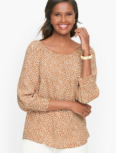 Elbow Sleeve Popover - Tiny Leopard