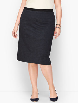 Luxe Knit Plaid A-Line Skirt