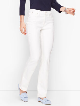 High-Waist Barely Boot Jeans - Curvy Fit - White