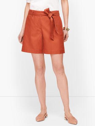 Tie Waist Shorts - Twill