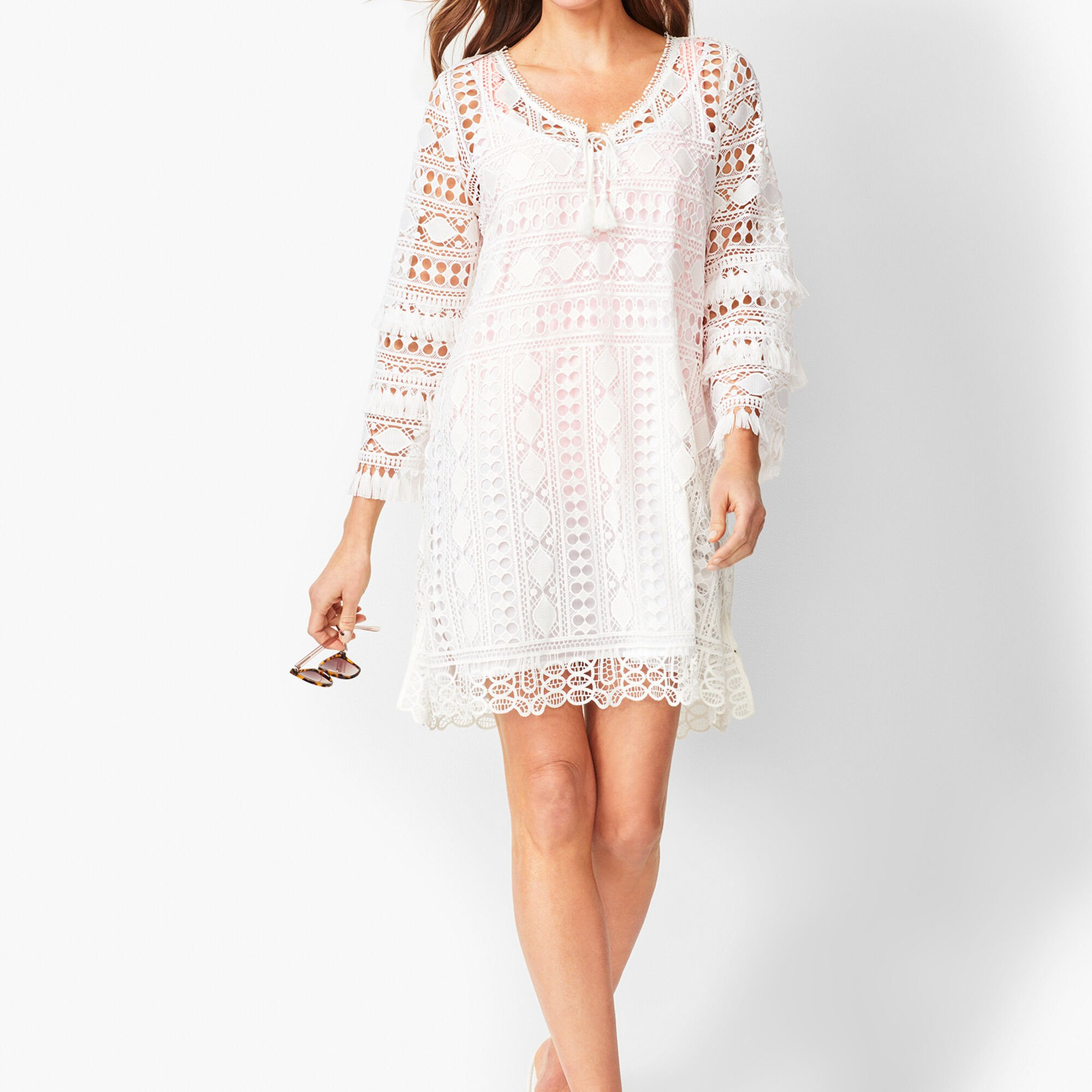 a2c0d7dce97 Images. Bell-Sleeve Embroidered Lace Cover-up