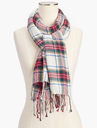 Classic Plaid Wool Scarf