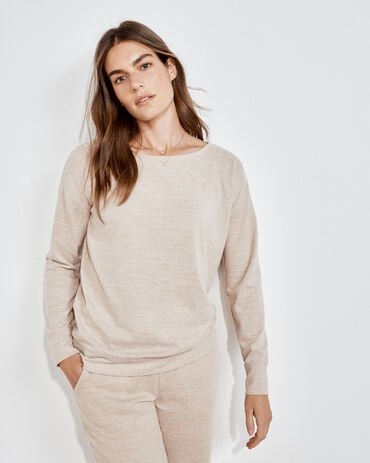 Marled KnitBoat Neck Top