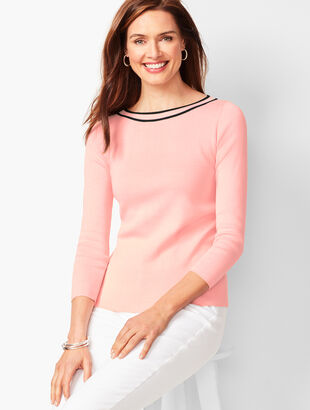 Classic Bateau-Neck Sweater - Tipped