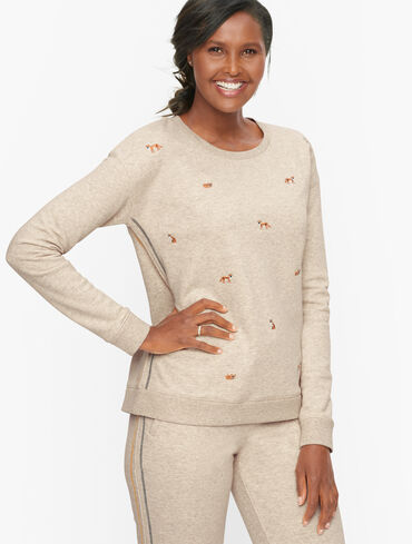 Classic Terry Embroidered Sweatshirt