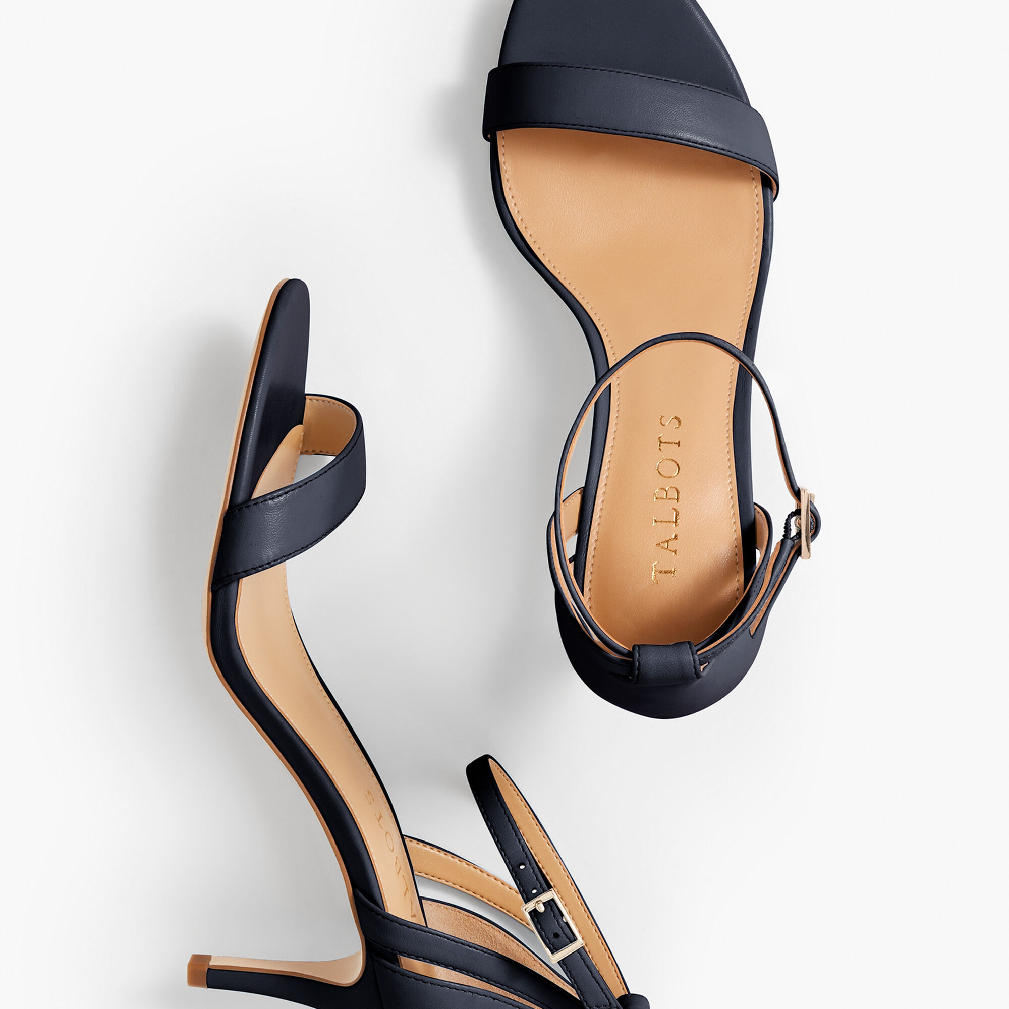 Images. Rosalie Ankle-Strap Sandals - Nappa Leather
