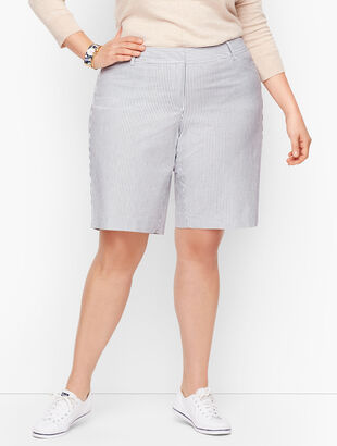 Perfect Shorts - Bermuda Length - Railroad Stripe