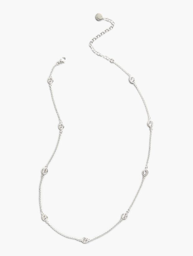 Delicate Glass Necklace - Sterling Silver