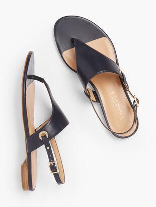 Keri Triangle Sandals - Nappa Leather