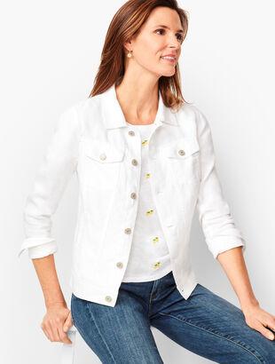 Classic Linen Jean Jacket