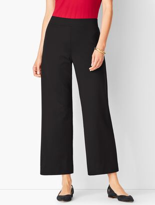 Knit Jersey Wide-Leg Pant