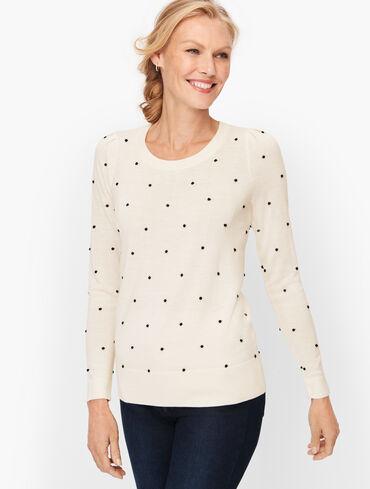 Juliet Sleeve Bobble Dot Sweater