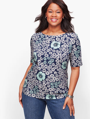 Scallop Tee - Floral