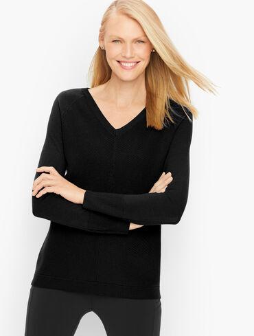 Raglan Sleeve Hi-Lo Sweater