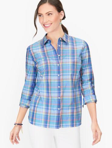 Classic Cotton Shirt - Artistic Plaid
