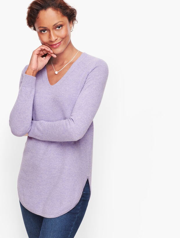 Stitched Cashmere Sweater