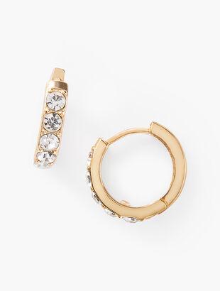 Petite Crystal Hoop Earrings