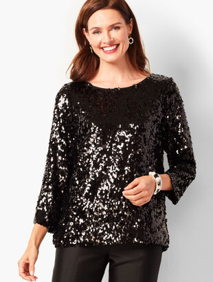 Allover Sequin Top