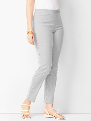 Talbots Chatham Ankle Pants - Curvy Fit - Stripe