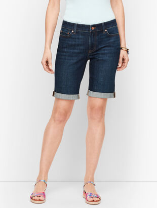 Girlfriend Denim Shorts - Genuine Dark