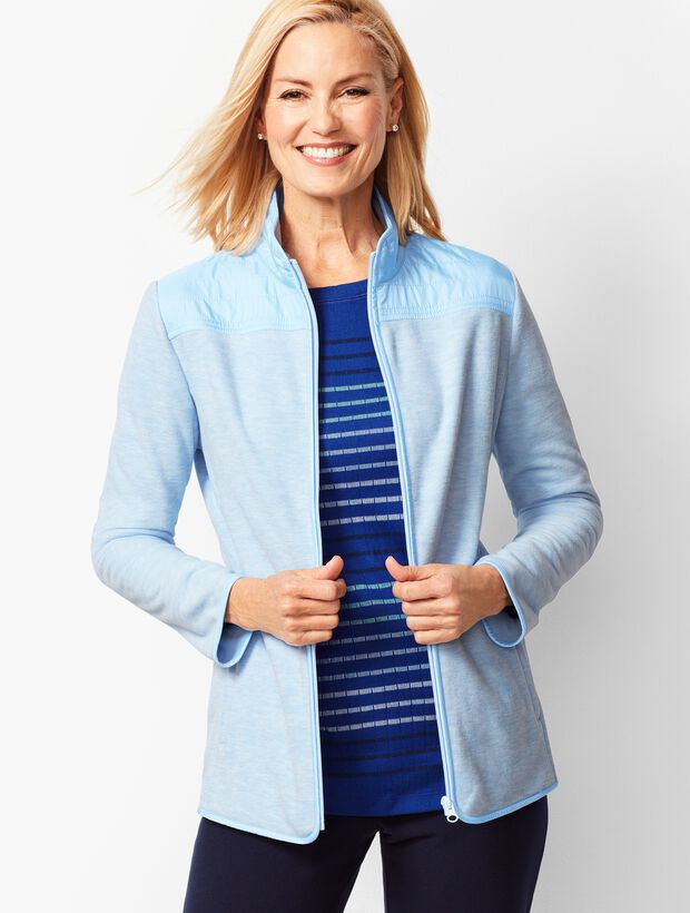 Heathered Polar Fleece Jacket