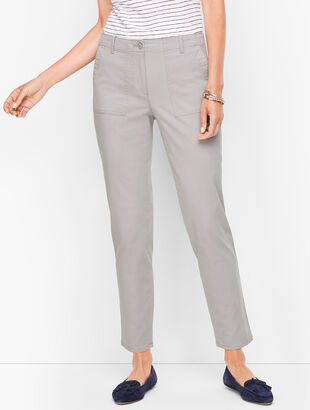 Patch Pocket Ankle Chinos