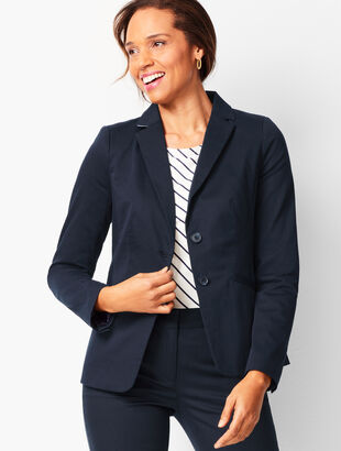 Monterey Cotton Two-Button Blazer