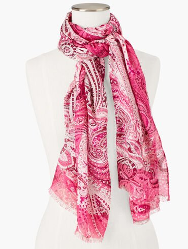 Allover Floral Paisley Oblong Scarf