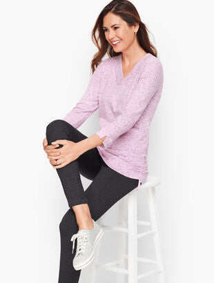 V-Neck Side Tie Pullover
