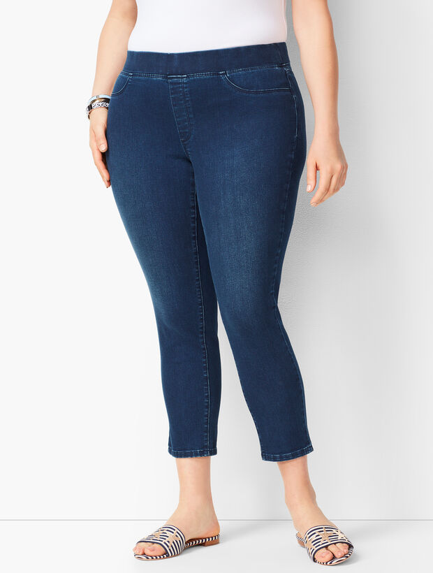 Plus Size Pull-On Jegging Crops - Atmosphere Wash