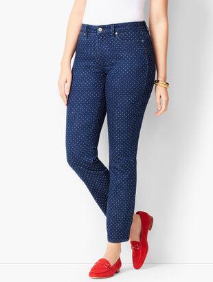 Slim Ankle Jeans - Curvy Fit -Polka Dot